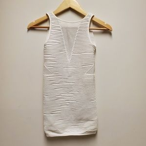 Bebe White Bodycon Meshed Dress Size S Brand New